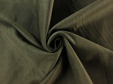 Olivefarbener Stretch-Feincord kaufen im Makerist Materialshop