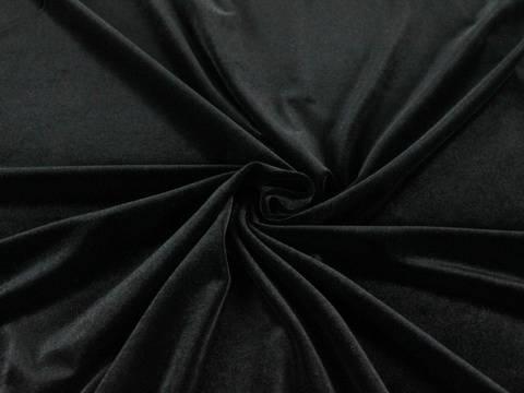 Schwarzer Stretch-Velour kaufen im Makerist Materialshop
