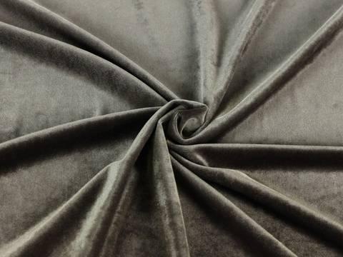 Mausgrauer Stretch-Velour kaufen im Makerist Materialshop
