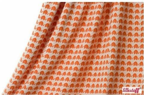 Orangener Jacquard lillestoff: Elephant - 150 cm kaufen im Makerist Materialshop