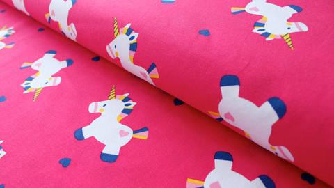 Pinker Jersey: Einhorn - 150 cm kaufen im Makerist Materialshop