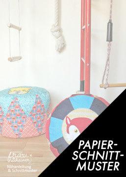 Gedrucktes Schnittmuster für: Zirkuskissen - Bodenkissen und Sitzkissen - Schnittmuster kaufen im Makerist Materialshop