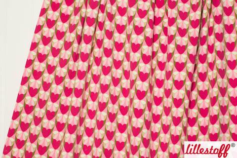Pinker Bio-Jersey lillestoff: Herzmomente - 150 cm kaufen im Makerist Materialshop