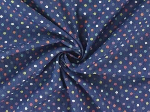 Dunkelblauer Jeansstoff: Konfetti - 145 cm kaufen im Makerist Materialshop