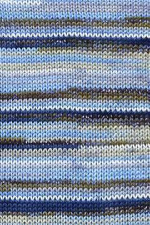 TISSA 3/3 COLOR - BLAU/BEIGE BEDRUCKT kaufen im Makerist Materialshop