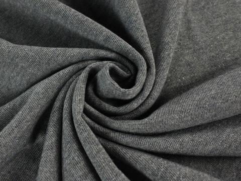 Melange grau-blauer Sweatstoff: Strick - 125 cm kaufen im Makerist Materialshop