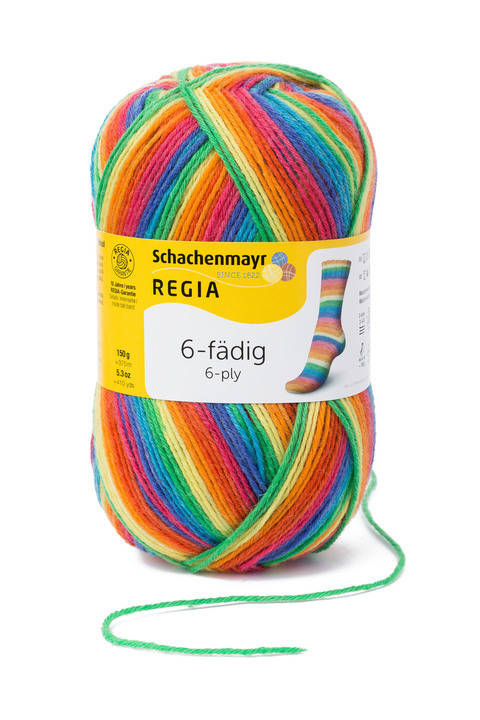 Regia 6-fädig Color - 06367 rainbow kaufen im Makerist Materialshop