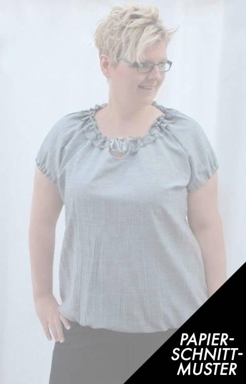Gedrucktes Schnittmuster für: Ebook Bluse SELMA  Gr. S-XXL nur KURZARM kaufen im Makerist Materialshop