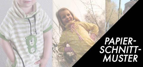 Gedrucktes Schnittmuster für: Raglan Hoodie Pullover Gr. 86/92-146/152 kaufen im Makerist Materialshop