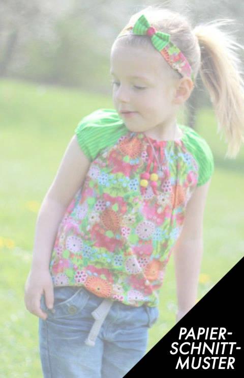 Gedrucktes Schnittmuster für: Bluse mini SELMA Gr. 74/80-146/152 nur KURZARM kaufen im Makerist Materialshop