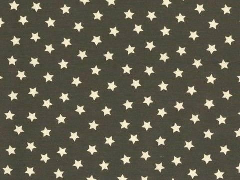 Dunkelgrauer Baumwolljersey: Mini Stars - 150 cm kaufen im Makerist Materialshop