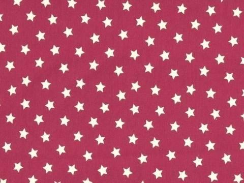Magentafarbener Baumwolljersey: Mini Stars - 150 cm kaufen im Makerist Materialshop