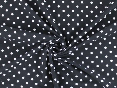 Schwarzer Baumwolljersey: Dots - 150 cm  kaufen im Makerist Materialshop