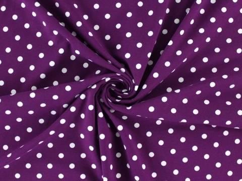 Violetter Baumwolljersey: Dots - 150 cm  kaufen im Makerist Materialshop