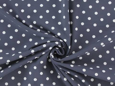 Anthrazitfarbener Baumwolljersey: Dots - 150 cm  kaufen im Makerist Materialshop