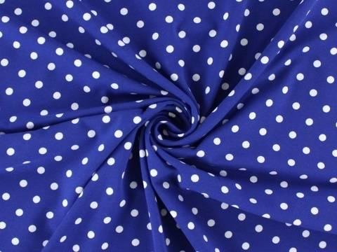 Blauer Baumwolljersey: Dots - 150 cm  kaufen im Makerist Materialshop