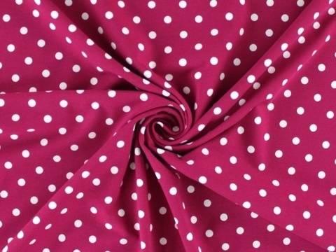 Magentafarbener Baumwolljersey: Dots - 150 cm  kaufen im Makerist Materialshop
