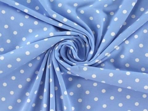 Hellblauer Baumwolljersey: Dots - 150 cm  kaufen im Makerist Materialshop