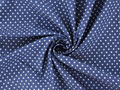 Blauer Jeansstoff: Sterne - 140 cm kaufen im Makerist Materialshop