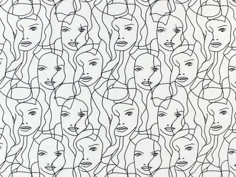 Weißer Baumwolljersey: Beautiful Girl - 150 cm kaufen im Makerist Materialshop