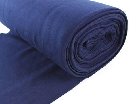 Marineblauer Bündchenstoff, glatt - 35 cm kaufen im Makerist Materialshop