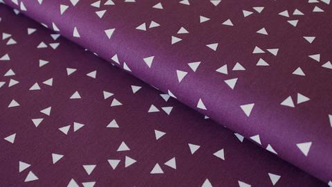 Baumwollstoff Dreieck lila: Triangle - 150 cm kaufen im Makerist Materialshop