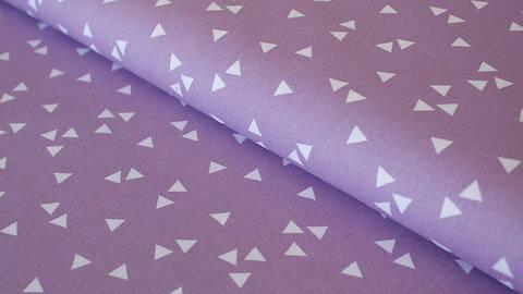 Fliederfarbener Dreieck Baumwollstoff: Triangle - 150 cm kaufen im Makerist Materialshop