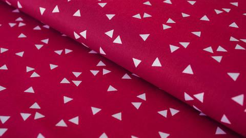 Kirschroter Dreieck Baumwollstoff: Triangle - 150 cm kaufen im Makerist Materialshop