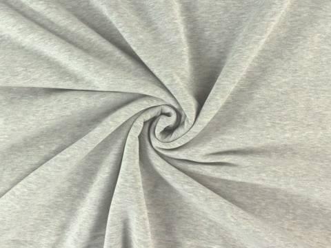 Hellgrau melierter Sweat - 150 cm kaufen im Makerist Materialshop