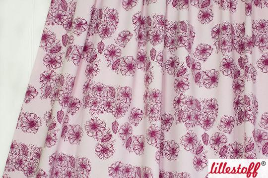 Rosafarbener Bio-Jersey lillestoff: Sommerblumen - 150 cm - Stoffe kaufen im Makerist Materialshop