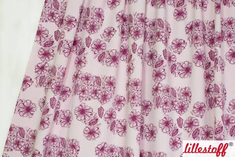 Rosafarbener Bio-Jersey lillestoff: Sommerblumen - 150 cm kaufen im Makerist Materialshop