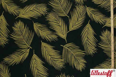 Schwarz-goldener Modalstoff: Golden Palm - 150 cm kaufen im Makerist Materialshop