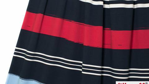 Dunkelblauer Baumwolljersey Mare Stripes: Rapport - 150 cm kaufen im Makerist Materialshop