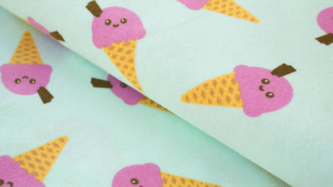 Mintfarbener Jersey: Megan Blue Ice cream - 150 cm kaufen im Makerist Materialshop