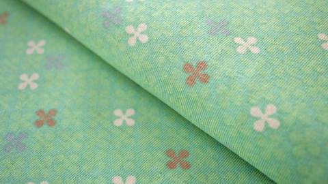 Mintfarbener Jersey: Clovers - 150 cm kaufen im Makerist Materialshop
