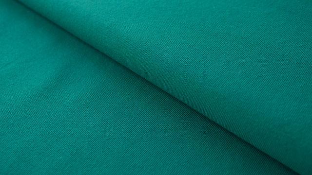 Petrolfarbener Baumwolljersey: Emerald - 160 cm im Makerist Materialshop - Bild 1
