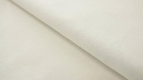 Cremefarbener Baumwolljersey: Creme - 160 cm kaufen im Makerist Materialshop