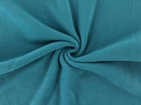 Petrolfarbener Fleece: Antipilling - 150 cm kaufen im Makerist Materialshop