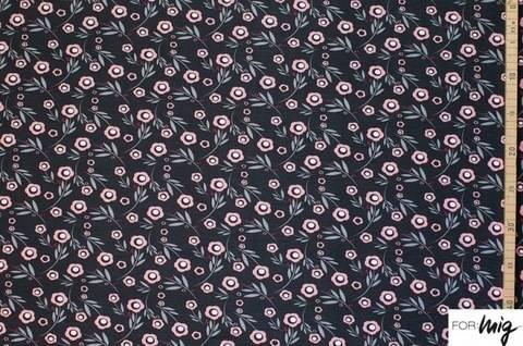 Brauner Modalstoff lillestoff:  Flowers 'n' Dots - 150 cm kaufen im Makerist Materialshop