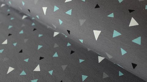 Grau-blauer Baumwolljersey: Small Triangle - 150 cm kaufen im Makerist Materialshop