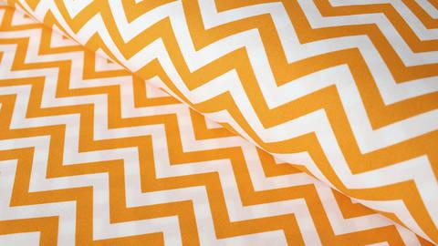 Weiß-gelber Baumwollstoff: Herringbone - 150 cm kaufen im Makerist Materialshop