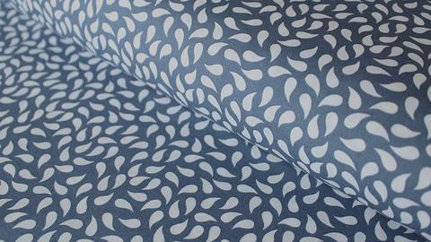 Blau-weißer Baumwollstoff: Paisley - 150 cm kaufen im Makerist Materialshop