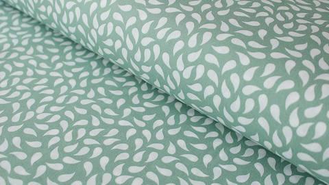 Grün-weißer Baumwollstoff: Paisley - 150 cm kaufen im Makerist Materialshop