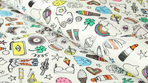Buntes Wachstuch: Icons - 140 cm - ARCHIVIERT - kaufen im Makerist Materialshop