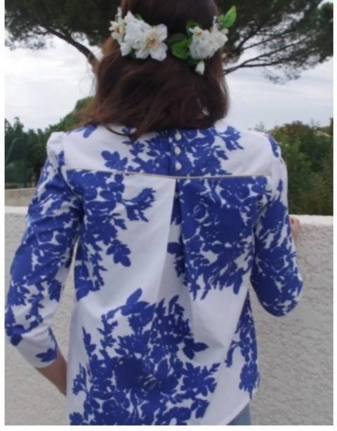 Acheter Patron pochette blouse Violette par Dessine moi un Patron dans la mercerie Makerist