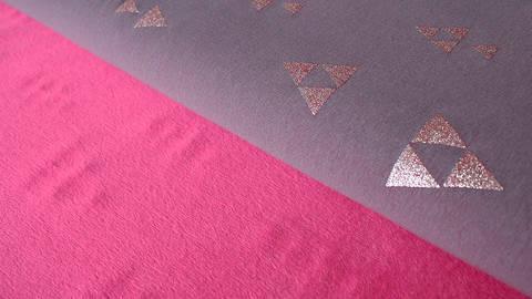 Auberginefarbener Happy Fleece: Pyramide - 150 cm - ARCHIVIERT - kaufen im Makerist Materialshop