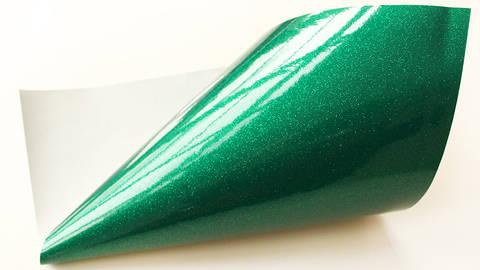 Glitzernde Vinylfolie - grün kaufen im Makerist Materialshop