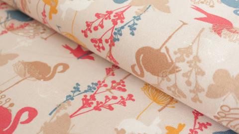 Cremefarbener Jersey: Megan Blue Summer Animals - 150 cm kaufen im Makerist Materialshop