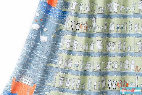 Blauer Bio-Jersey Rapport lillestoff: Arche - 150 cm kaufen im Makerist Materialshop