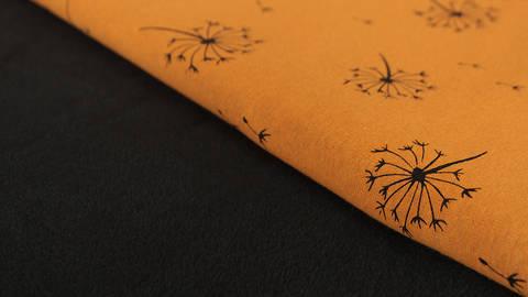 Senfgelber Happy Fleece: Pusteblume - 150 cm kaufen im Makerist Materialshop